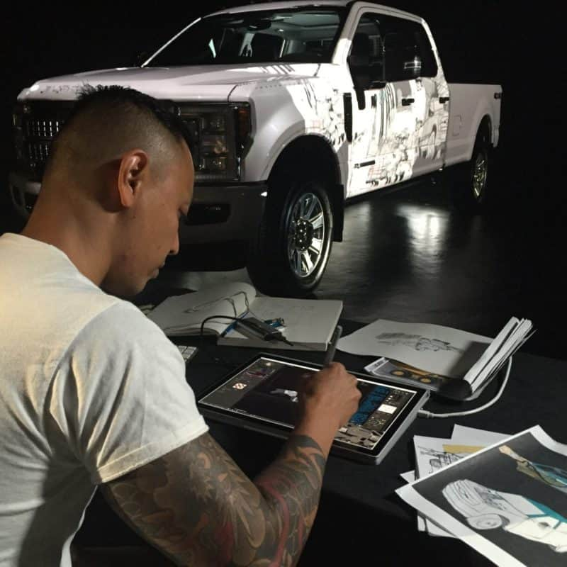 Ford F-Series Super Duty-3D Projection Mapping-Derooted Los Angeles-22